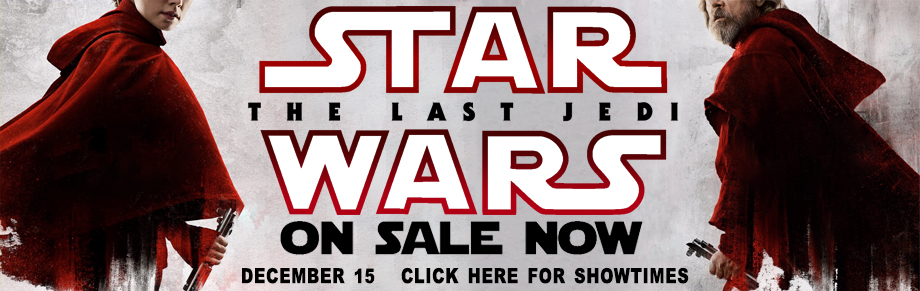Banner: The Last Jedi Tickets on sale later tonight